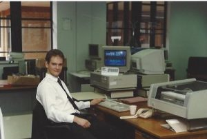 IT support - Rod Linford in the 1980s